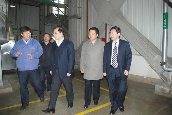 渭南市市长奚正平一行到化学分公司视察工作